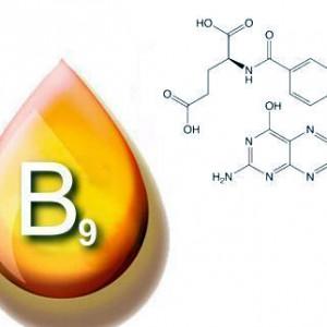 Химические и физические свойства витамина В9