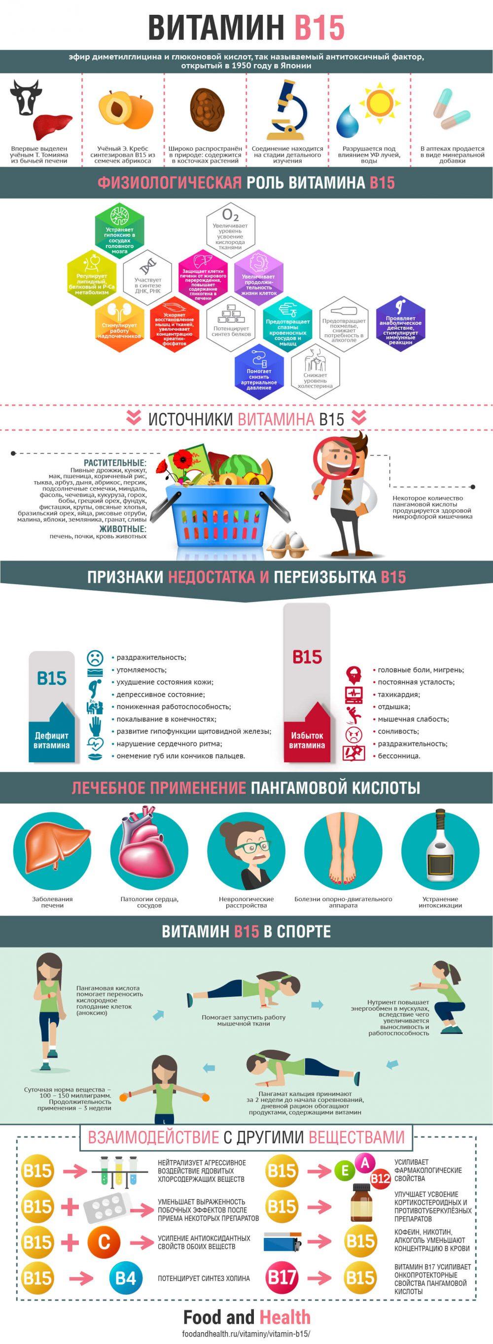 Витамин В15 - инфографика