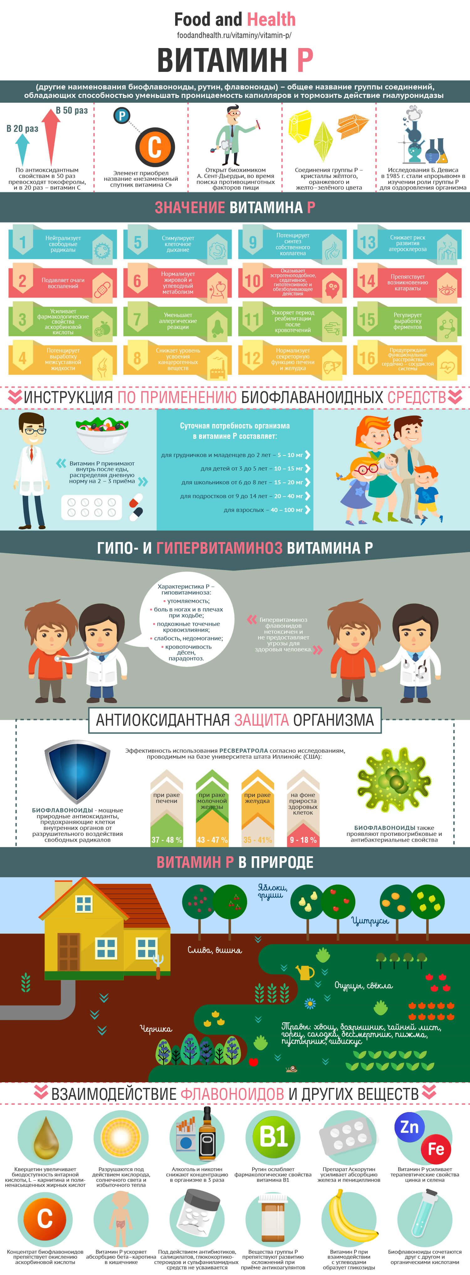 Витамин P: инфографика