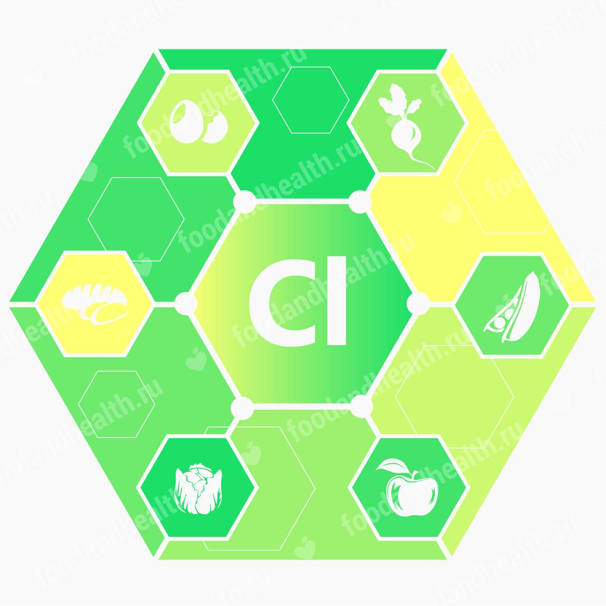 Значение хлора в организме