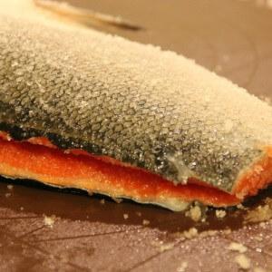 Рецепт соленой кеты
