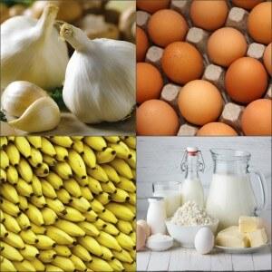 Продукты, содержащие витамины группы B