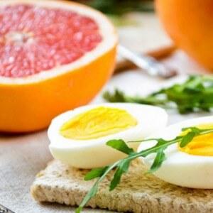 Меню завтрака яичной диеты