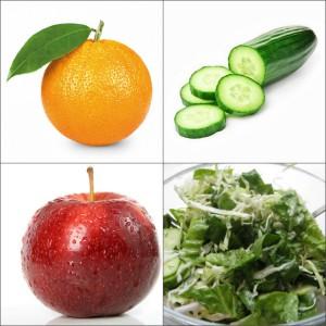 Пример меню огуречной диеты на день
