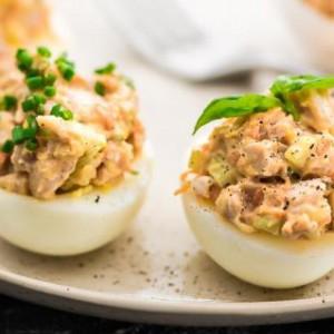 Фаршированные яйца цесарок