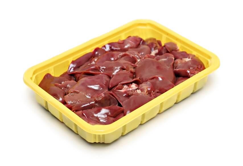 печень говяжья из замороженного сырья