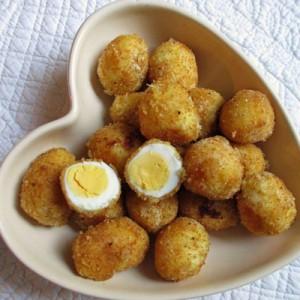 Шотландская закуска из перепелиных яиц