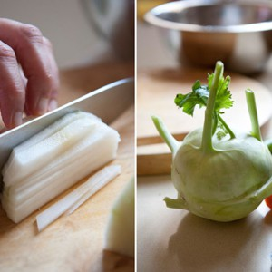 Приготовление кольраби