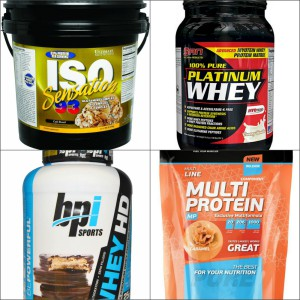 Протеин от разных производителей