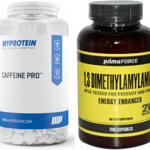 Стимуляторы - кофеин и геранамин (1,3 диметиламиламин)