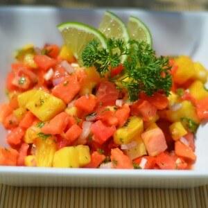 Блюдо из папайи