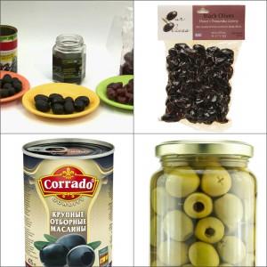 Виды упаковки маслин