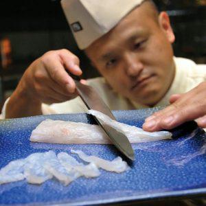 Приготовление рыбы фугу