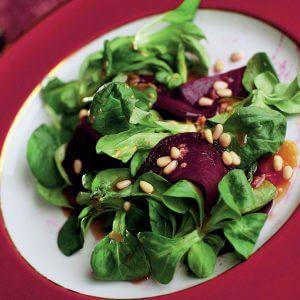 Сашими из свеклы и салата корн