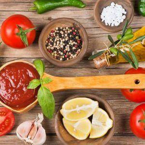 Ингредиенты для приготовления соуса маринара