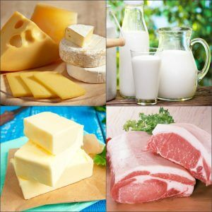 Продукты содержащие животные жиры