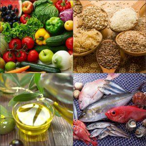 Продукты традиционной средиземноморской диеты