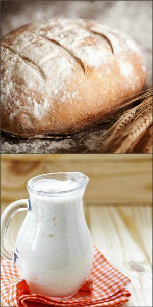Хлеб и кефир