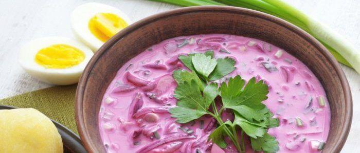 Холодный диетический суп