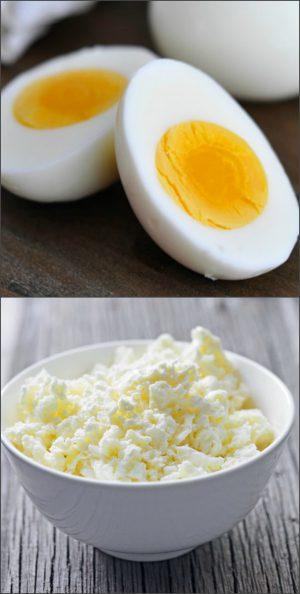 Яйца и творог