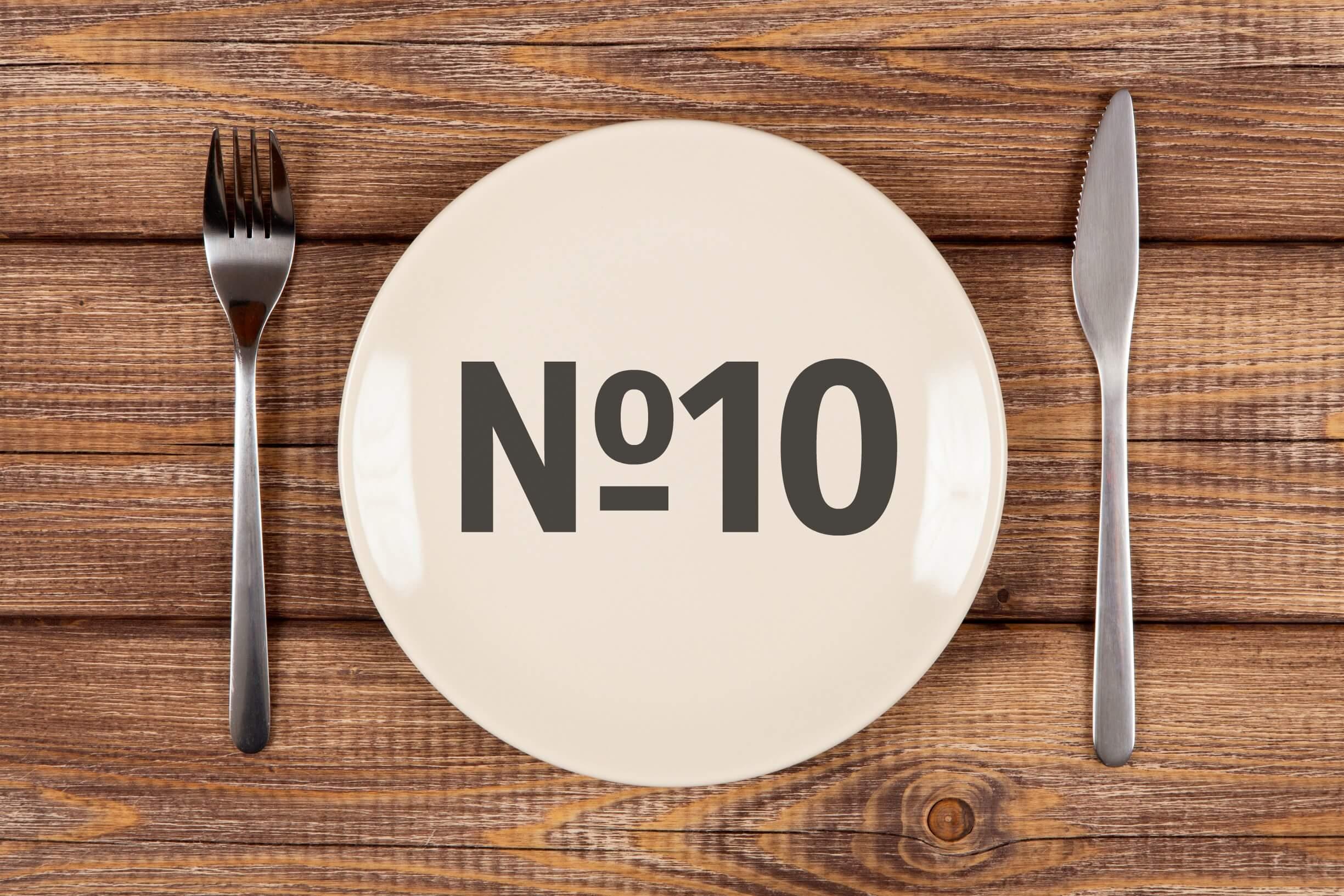 для диеты 10 характерно