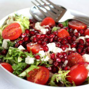 Гранатовый салат с Альметте