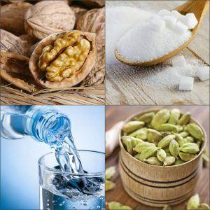 Ингредиенты для приготовления варенья из грецких орехов