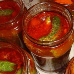 Огурцы с соусом чили