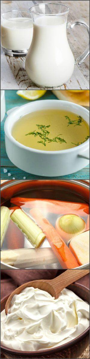 Варианты основ для соуса