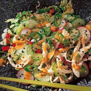 Имбирный салат с кунжутом