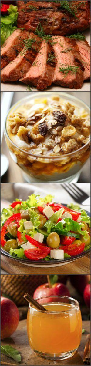 Меню диеты для похудения живота