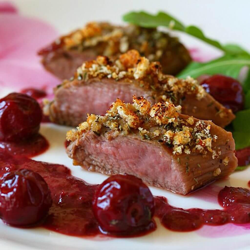 Мясо с вишней рецепты