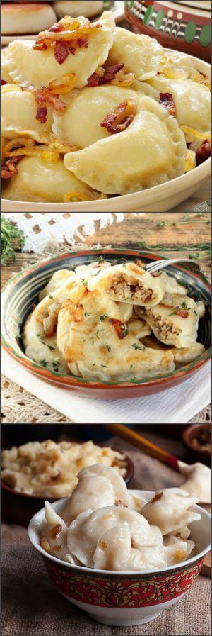 Вареники с капустой, картошкой и мясом