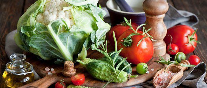 Огурцы, томаты и цветная капуста
