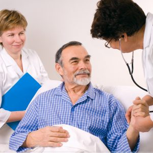 Пациент во время процедуры