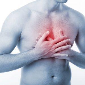 Резкие боли в груди