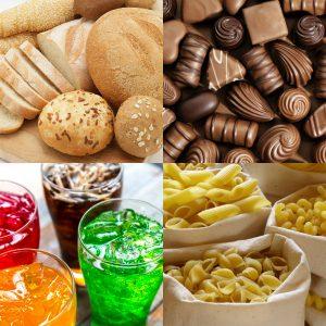 Продукты богатые углеводами