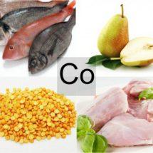 Продукты питания богатые кобальтом