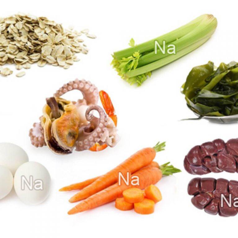 Продукты питания богатые натрием