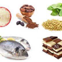 Продукты питания богатые никелем